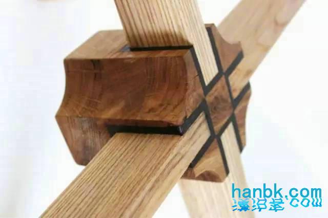 榫卯木椅子设计手绘图